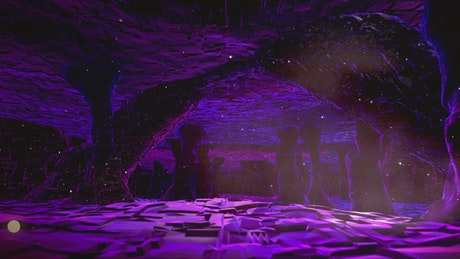 Animation of a cave with alien style