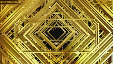 Animation of golden empty frames
