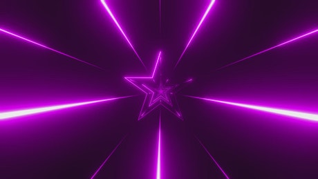 Animation of purple laser stars