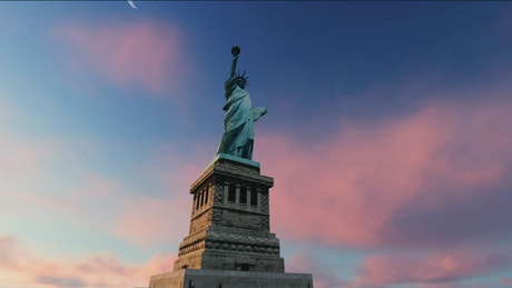 Animation of the Statue of Liberty, time-lapse