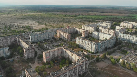 Apartment buildings in the middle of nature