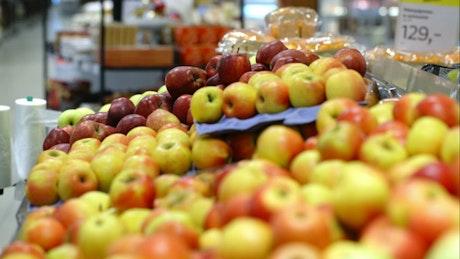 Apples on display