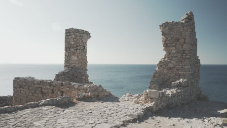 Archaeological zone with sea view