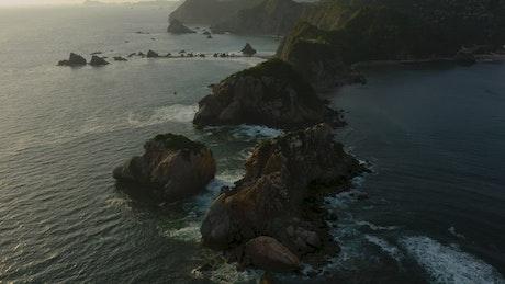 Archipelago on a coast