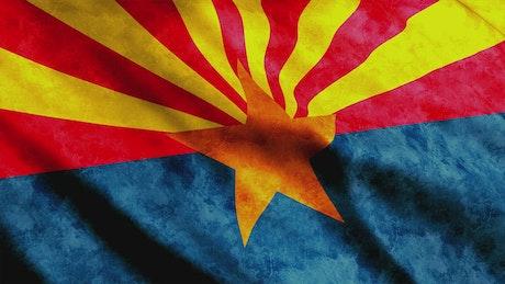 Arizona State flag, 3D animation