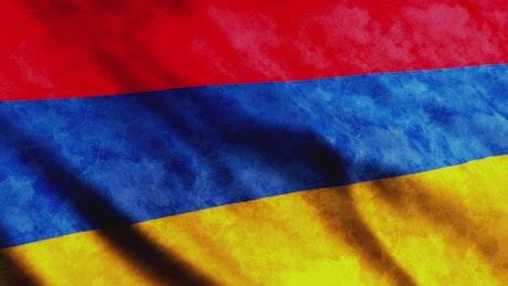 Armenian flag, 3D animation