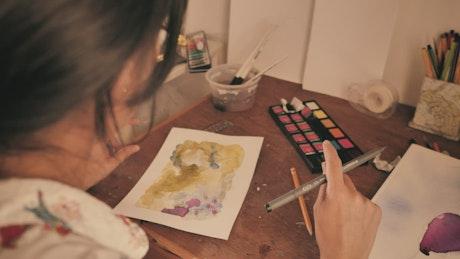 Artist on a video call