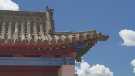 Asian temple roof