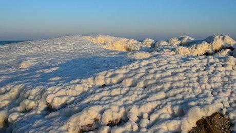 At the edge of a glacier