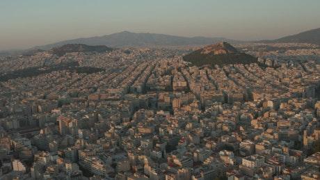 Athens city, aerial panoramic view