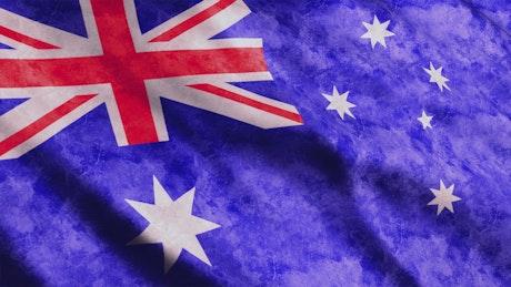 Australia flag waving