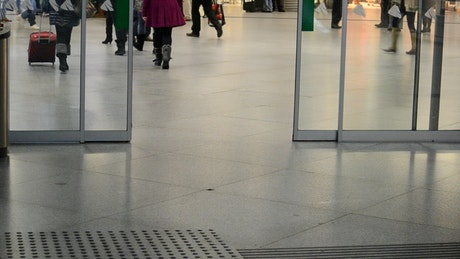 Automatic doors at Madrid airport