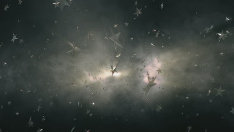 Award stars floating in space