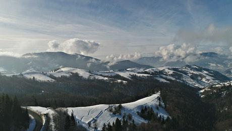 Awesome winter landscape, zoom shot