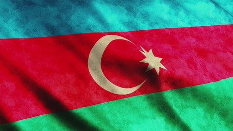 Azerbaijan waving flag, 3D