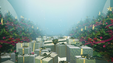 Background video with christmas concept, 3D loop