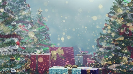 Background video with christmas concept, 3D render