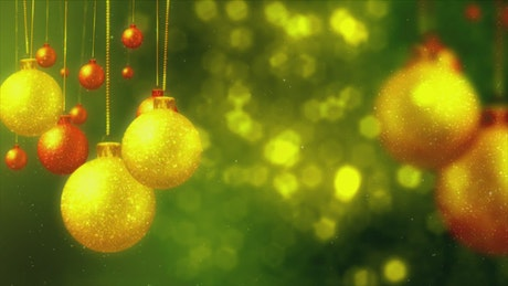 Background video with christmas decorations concept