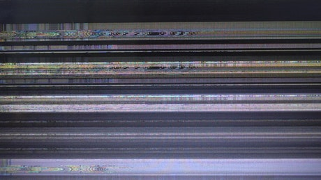 Bad television signal, effect