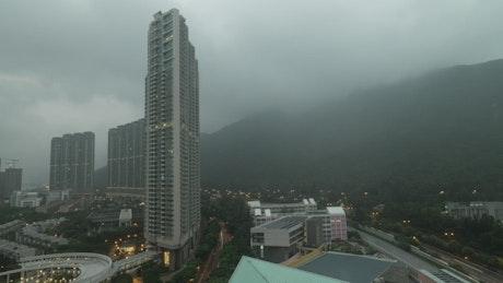 Bad weather over Hong Kong