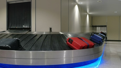 Baggage claim inside a modern airport