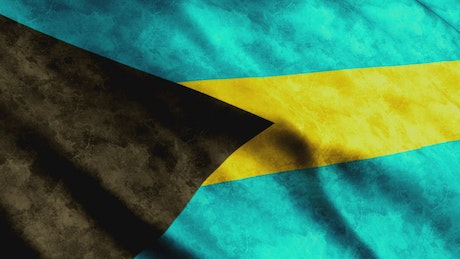 Bahamas flag in the wind