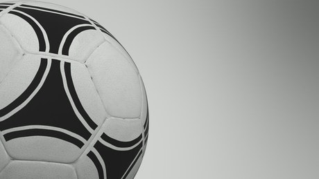 Ball spinning on a white background