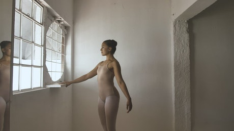 Ballerina warming up