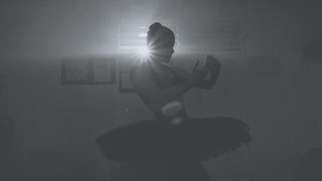 Ballerina wearing a tutu