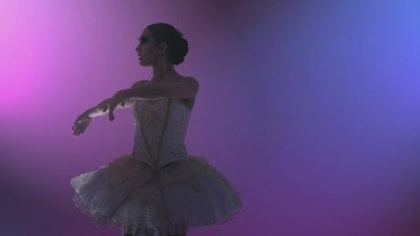 Ballet dancer doing artistic movements