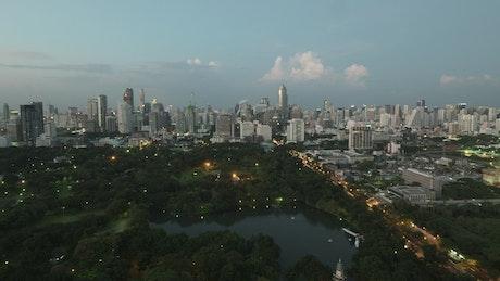 Bangkok in the evening