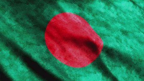 Bangladesh faded 3D flag