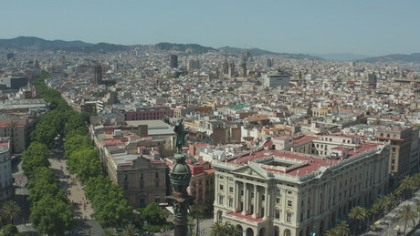 Barcelona City from above