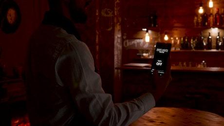 Barista uses innovative app to turn on bar lights