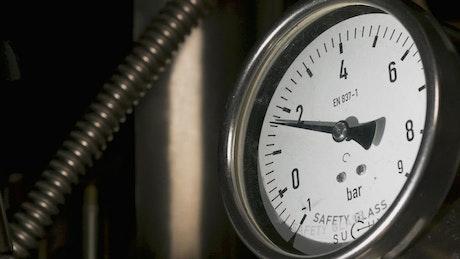 Barometer in a dark room