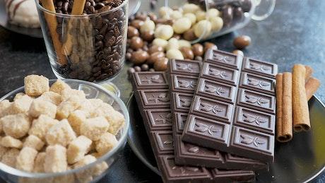 Bars of luxury chocolate