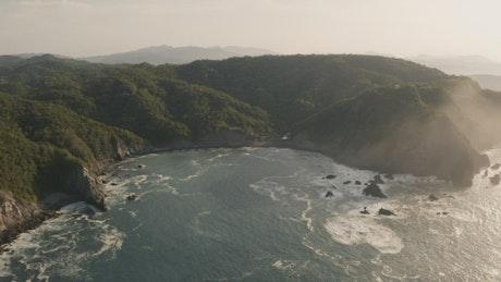 Bay landscape, aerial shot