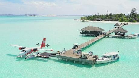Beach tourist paradise