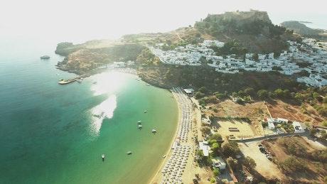 Beach village in Greece