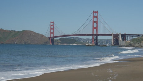 Beach with the Golden Gate Bridge in the background