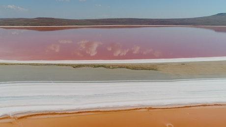 Beautiful colors across a salt lake