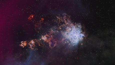 Beautiful glowing nebula in space