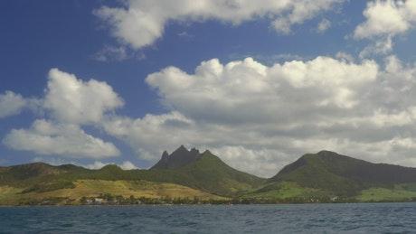 Beautiful island mountains