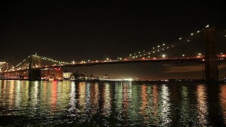 Beautiful night by the Brooklyn Bridge