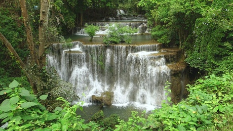 Beautiful river and waterfalls in the forest