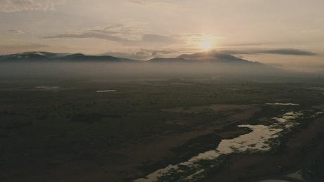 Beautiful sunrise landscape