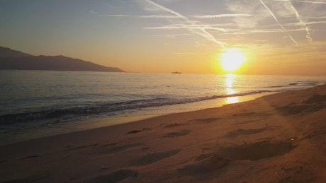 Beautiful sunset on a calm beach