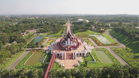 Beautiful temple, aerial view