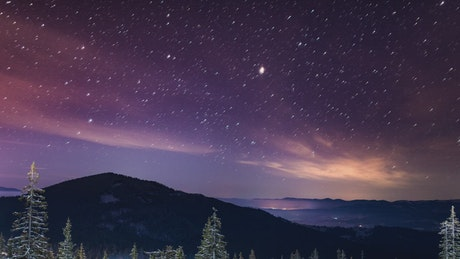Beautiful time-lapse of a starry sky