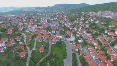 Beautiful town in the countryside